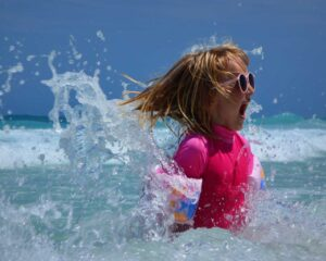 Girl Swimming Training